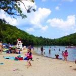 martin-beach families swimming